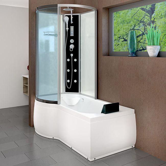 AcquaVapore DTP8050-A001R Wanne Duschtempel Badewanne Dusche Duschkabine 98x170 – Bild 1