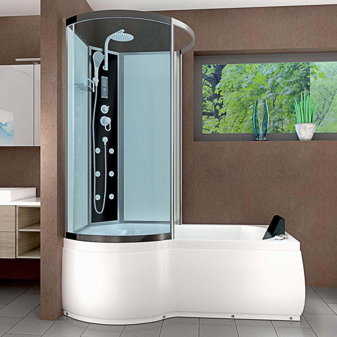 acquavapore dtp8050 a003r whirlpool wanne duschtempel dusche duschkabine 98x170 ebay. Black Bedroom Furniture Sets. Home Design Ideas