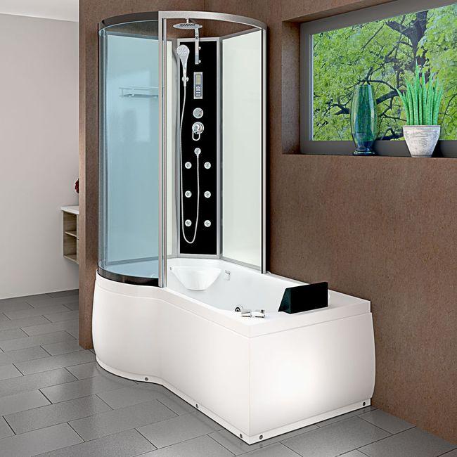 AcquaVapore DTP8050-A003R Whirlpool Wanne Duschtempel Dusche Duschkabine 98x170 – Bild 2
