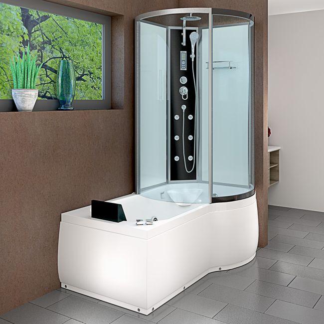 AcquaVapore DTP8050-A003L Whirlpool Wanne Duschtempel Dusche Duschkabine 170x98 – Bild 12