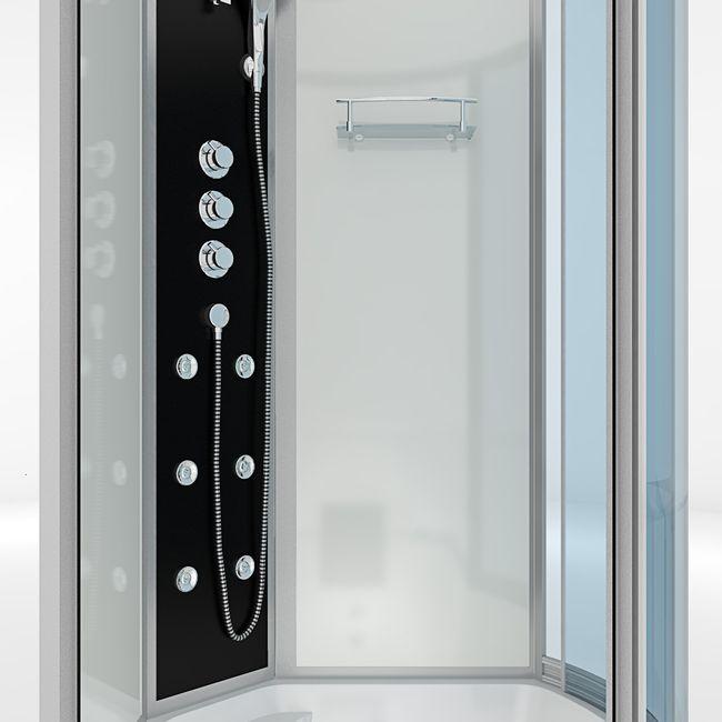 AcquaVapore DTP8050-A004L Wanne Duschtempel Badewanne Dusche Duschkabine 170x98 – Bild 9