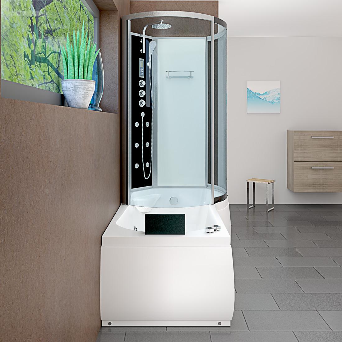acquavapore dtp8050 a007l dusch wannen kombi in 170x98cm trendbad24. Black Bedroom Furniture Sets. Home Design Ideas