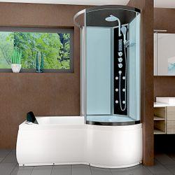 AcquaVapore DTP8050-A007L Whirlpool Wanne Duschtempel Dusche Duschkabine 170x98