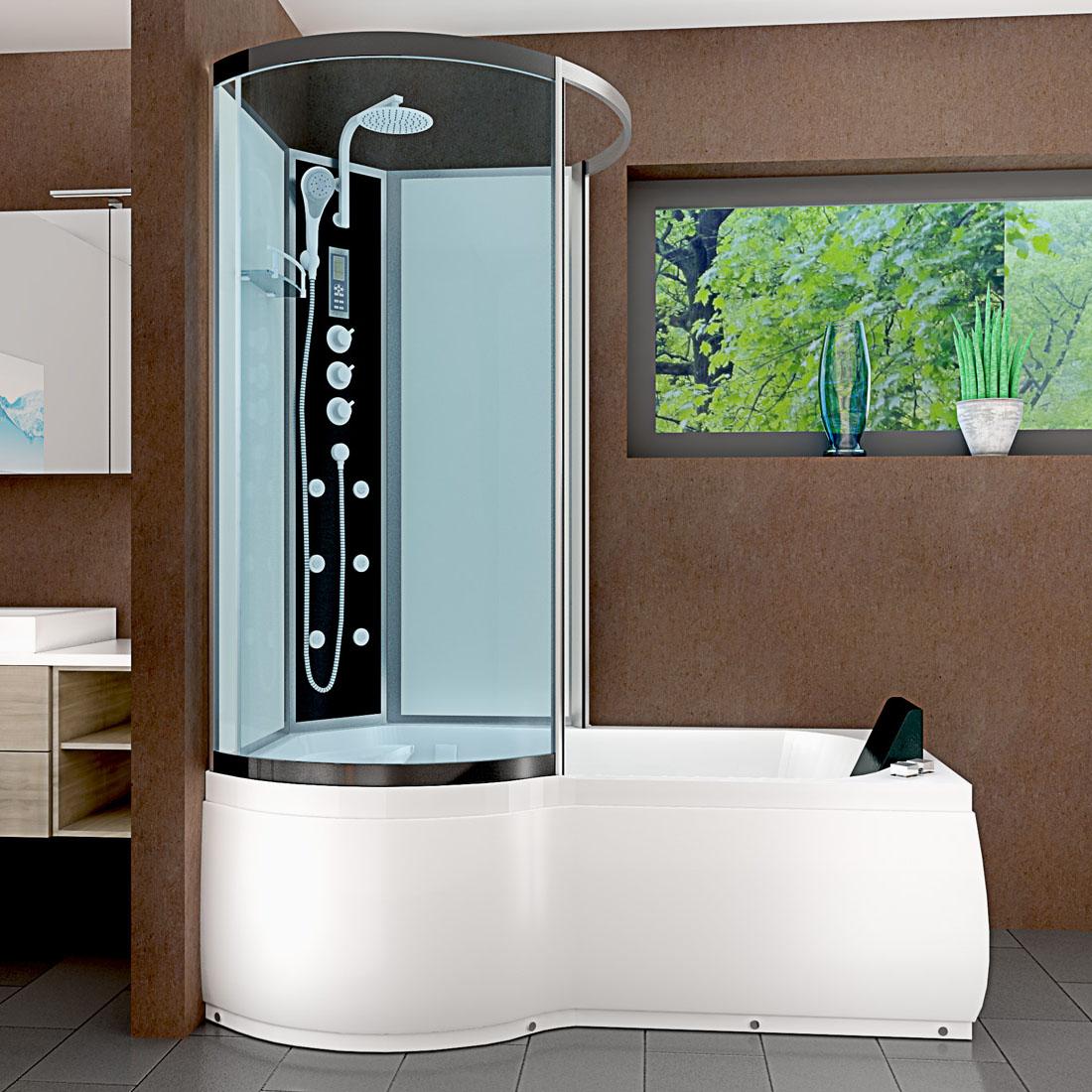 acquavapore dtp8050 a007r whirlpool wanne duschtempel dusche duschkabine th 98x170. Black Bedroom Furniture Sets. Home Design Ideas