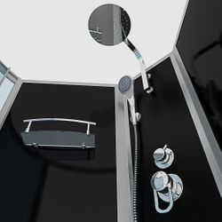AcquaVapore DTP8050-A300R Wanne Duschtempel Badewanne Dusche Duschkabine 98x170 Bild 6