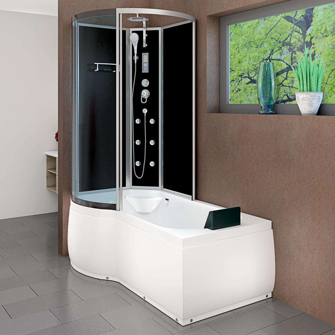 acquavapore dtp8050 a301r wanne duschtempel badewanne dusche duschkabine 98x170 ebay. Black Bedroom Furniture Sets. Home Design Ideas