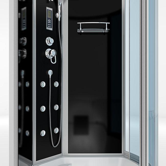 AcquaVapore DTP8050-A301L Wanne Duschtempel Badewanne Dusche Duschkabine 170x98 – Bild 9