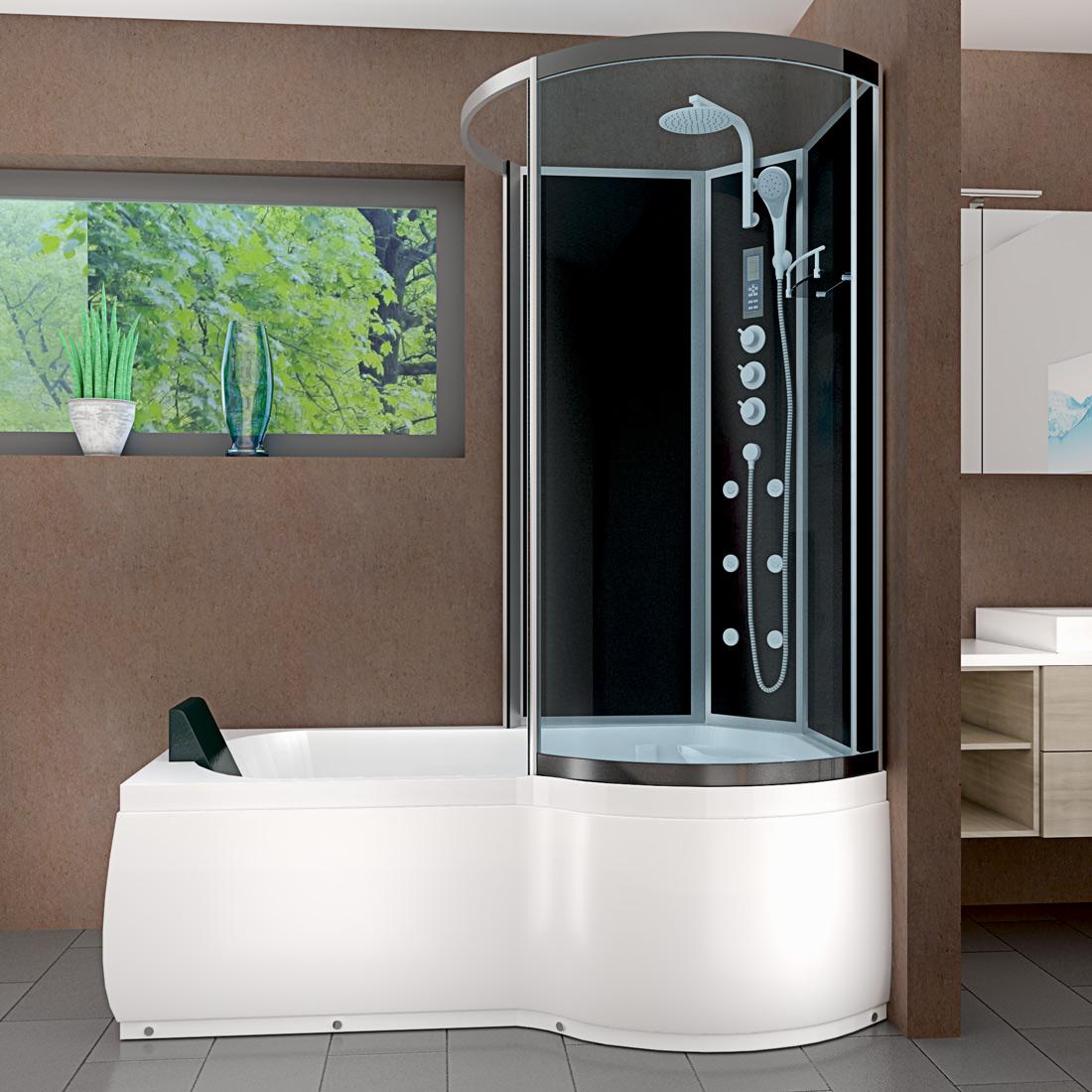 acquavapore dtp8050 a305l wanne duschtempel badewanne dusche duschkabine 170x98. Black Bedroom Furniture Sets. Home Design Ideas