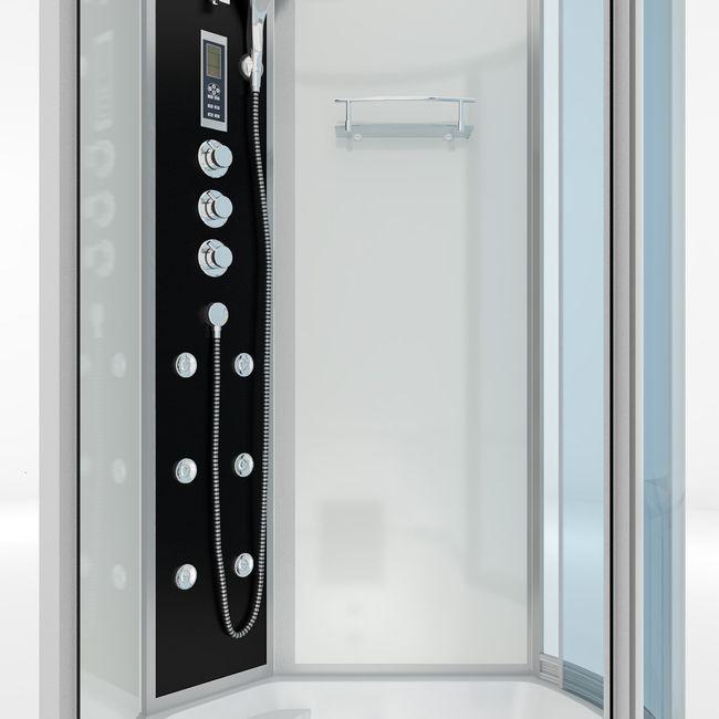 AcquaVapore DTP8055-A005L Wanne Duschtempel Badewanne Dusche Duschkabine 170x98 – Bild 9