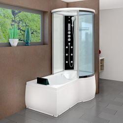 AcquaVapore DTP8055-A005L Wanne Duschtempel Badewanne Dusche Duschkabine 170x98 001