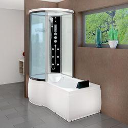 AcquaVapore DTP8055-A005R Wanne Duschtempel Badewanne Dusche Duschkabine -TH 98x170 001