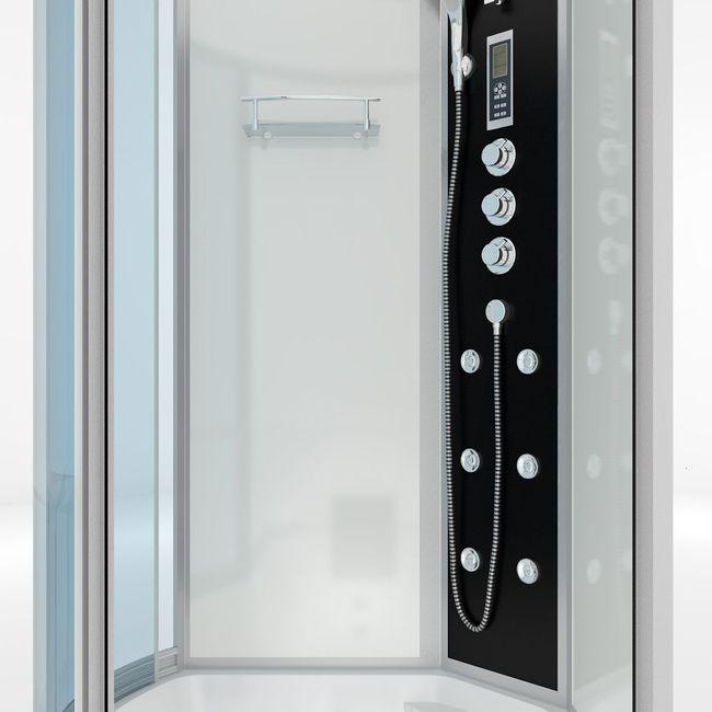 AcquaVapore DTP8055-A007R Whirlpool Wanne Duschtempel Dusche Duschkabine 98x170 – Bild 9