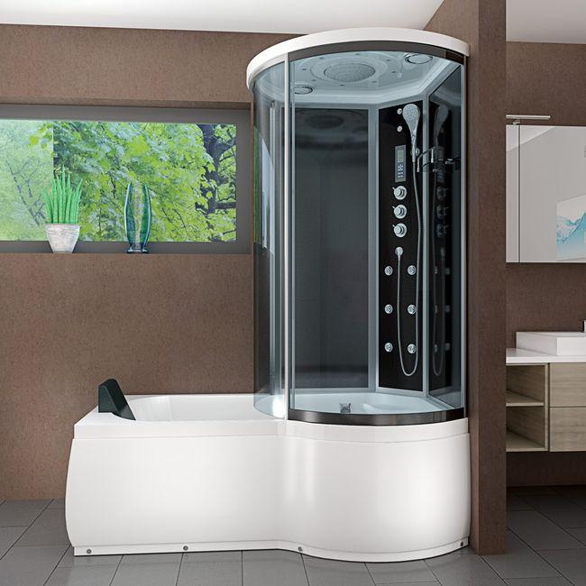 AcquaVapore DTP8055-A305L Wanne Duschtempel Badewanne Dusche Duschkabine 170x98 – Bild 11