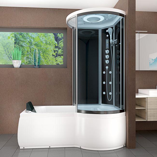 AcquaVapore DTP8055-A307L Whirlpool Wanne Duschtempel Dusche Duschkabine 170x98 – Bild 1