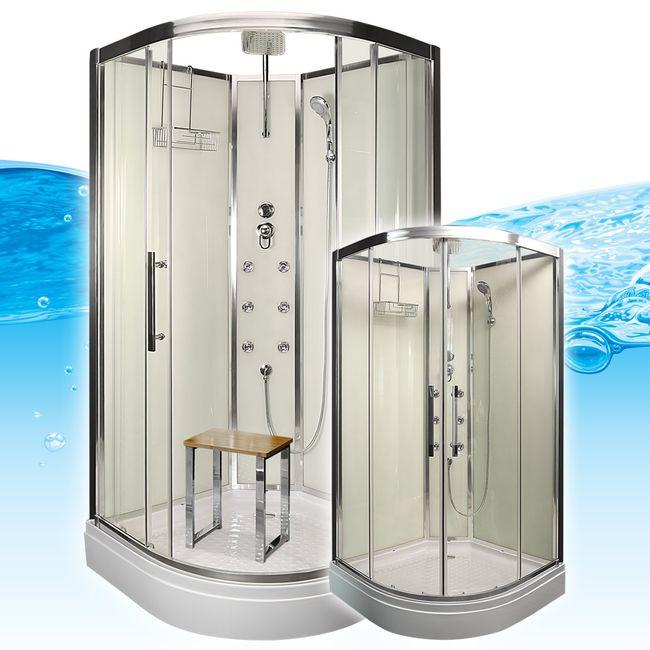 AcquaVapore QUICK16-0000 Dusche Duschtempel Komplette Duschkabine 80x80