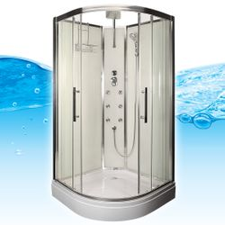 AcquaVapore QUICK16-0001 Dusche Duschtempel Komplette Duschkabine -Th 80x80 Bild 3