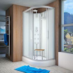 AcquaVapore QUICK16-7010R Dusche Duschtempel Komplette Duschkabine 80x120 Bild 2