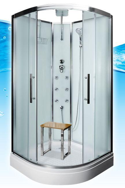 AcquaVapore QUICK16-0011 Dusche Duschtempel Komplette Duschkabine -Th 80x80