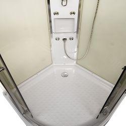 AcquaVapore QUICK16-0005 Dusche Duschtempel Komplette Duschkabine -Th 80x80 Bild 9