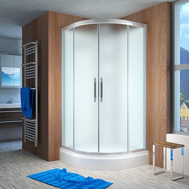 AcquaVapore QUICK16-2015 Dusche Duschtempel Komplette Duschkabine -Th 100x100