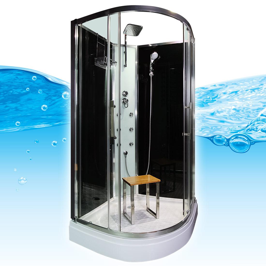acquavapore quick16 0300 dusche duschtempel komplette duschkabine 80x80 ebay. Black Bedroom Furniture Sets. Home Design Ideas