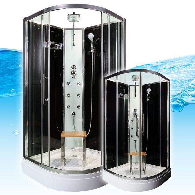 AcquaVapore QUICK16-0301 Dusche Duschtempel Komplette Duschkabine -Th 80x80