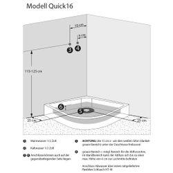 AcquaVapore QUICK16-0311 Dusche Duschtempel Komplette Duschkabine -Th 80x80 Bild 5