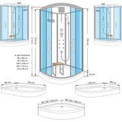 AcquaVapore QUICK16-0305 Dusche Duschtempel Komplette Duschkabine -Th 80x80 Bild 4