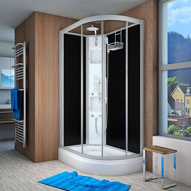 AcquaVapore QUICK16-7305R Dusche Duschtempel Komplette Duschkabine 80x120
