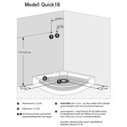 AcquaVapore QUICK18-0001 Dusche Duschtempel Komplette Duschkabine -Th 80x80 Bild 6