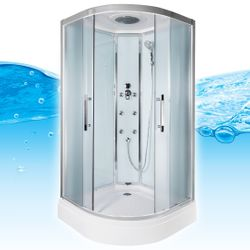 AcquaVapore QUICK18-0010 Dusche Duschtempel Komplette Duschkabine 80x80 Bild 3