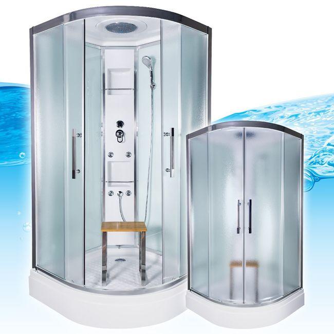 AcquaVapore QUICK18-0015 Dusche Duschtempel Komplette Duschkabine -Th 80x80