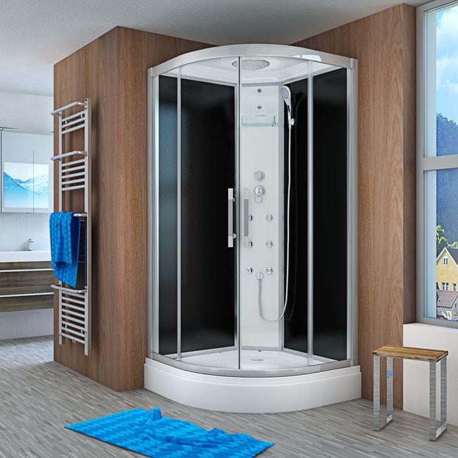 AcquaVapore QUICK18-2300 Dusche Duschtempel Komplette Duschkabine 100x100