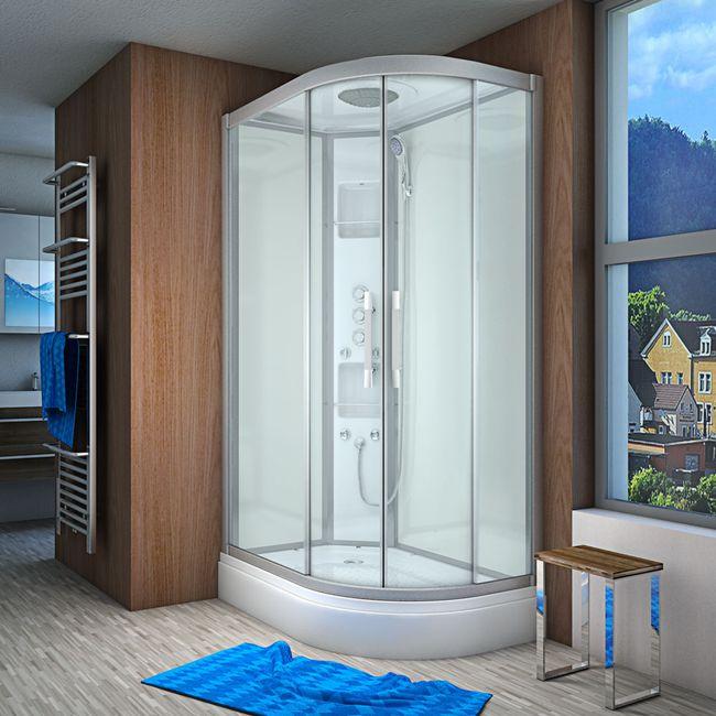 AcquaVapore QUICK18-7005R Dusche Duschtempel Komplette Duschkabine 80x120