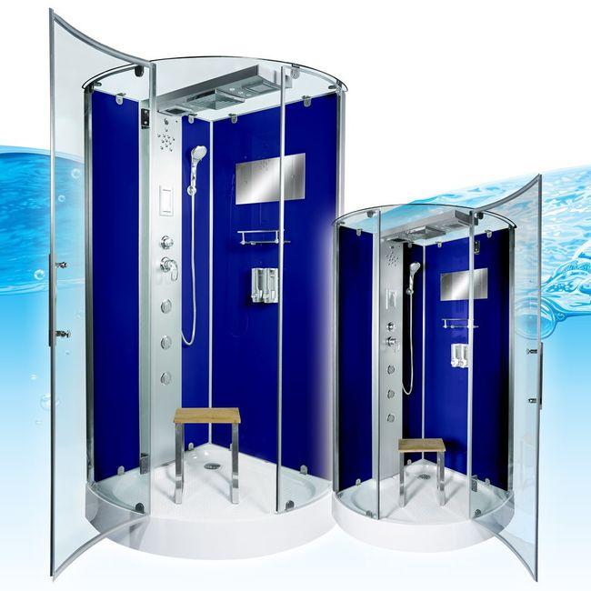 AcquaVapore DTP6037-1201 Dusche Duschtempel Komplett Duschkabine -Th. 90x90