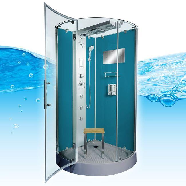AcquaVapore DTP6037-3103 Dusche Dampfdusche Duschtempel Duschkabine -Th. 90x90 – Bild 2