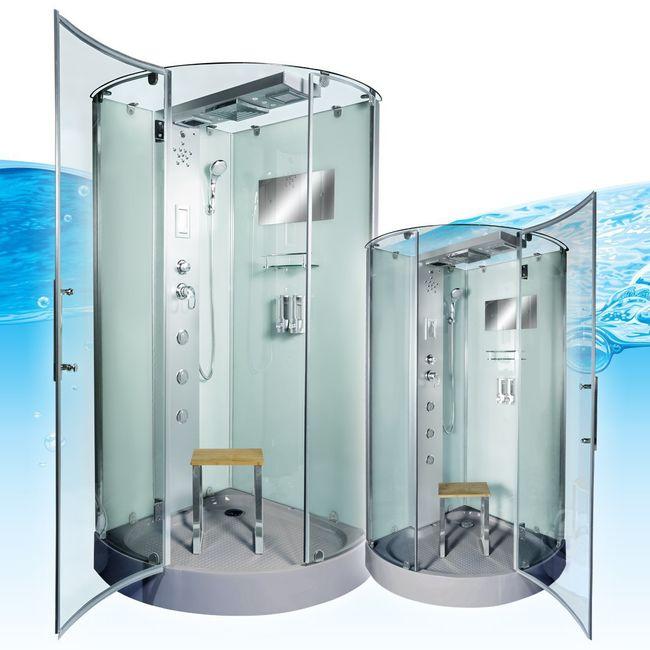 AcquaVapore DTP6037-4000 Dusche Duschtempel Komplett Duschkabine 100x100