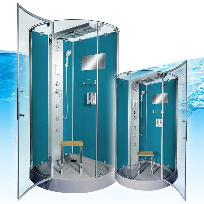 AcquaVapore DTP6037-4101 Dusche Duschtempel Komplett Duschkabine -Th. 100x100