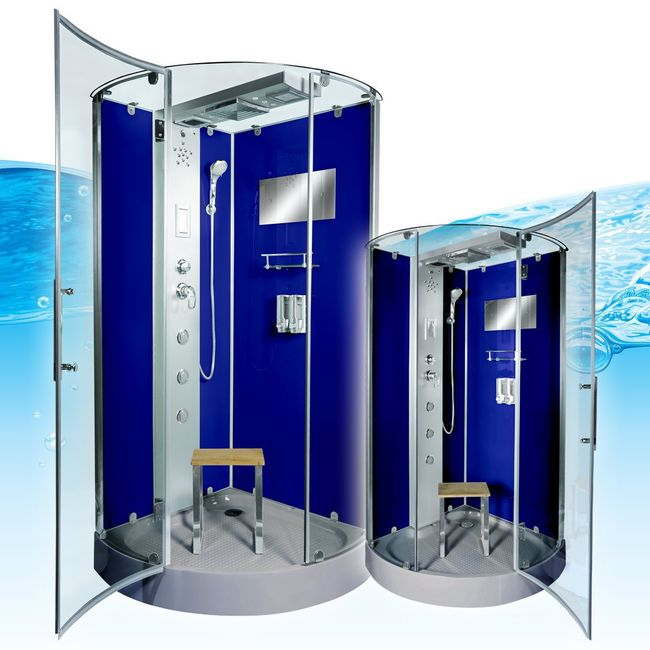 AcquaVapore DTP6037-4201 Dusche Duschtempel Komplett Duschkabine -Th. 100x100