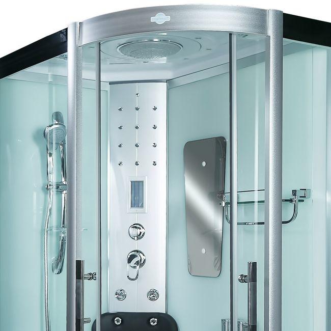 AcquaVapore DTP8060-7000R Dusche Duschtempel Komplett Duschkabine 80x120 – Bild 7