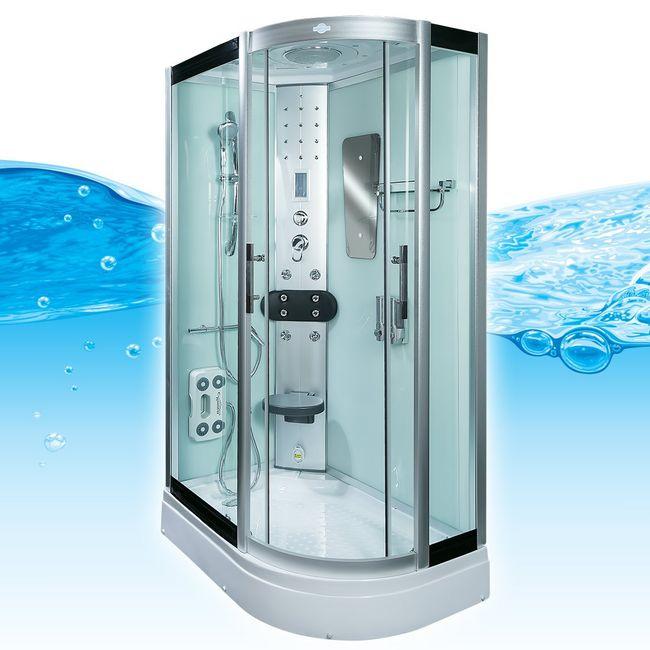 AcquaVapore DTP8060-7001R Dusche Duschtempel Komplett Duschkabine -Th. 80x120 – Bild 1