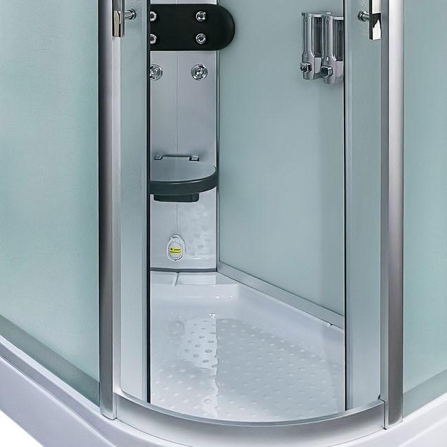 AcquaVapore DTP8060-7010R Dusche Duschtempel Komplett Duschkabine 80x120 – Bild 12