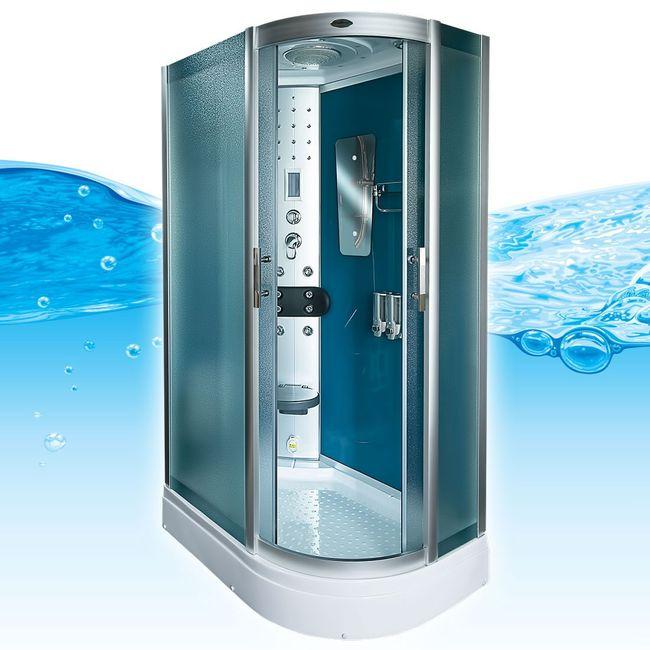 AcquaVapore DTP8060-7111R Dusche Duschtempel Komplett Duschkabine -Th. 80x120