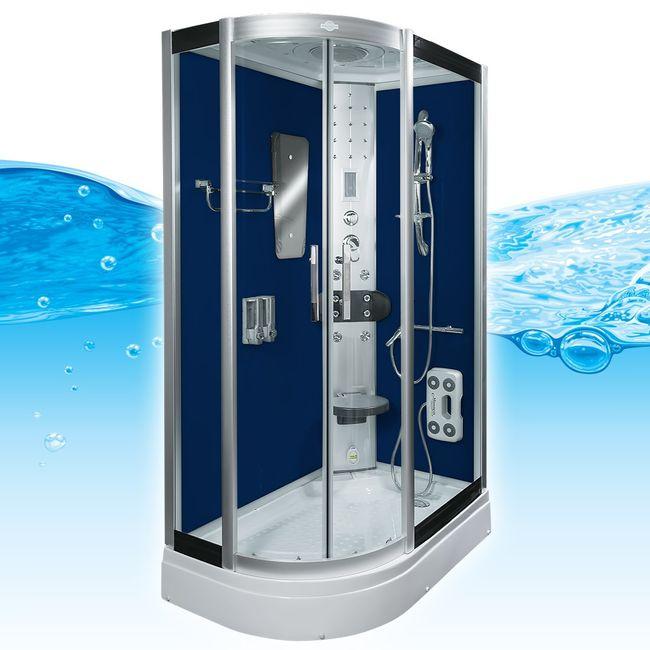 AcquaVapore DTP8060-7200L Dusche Duschtempel Komplett Duschkabine 120x80 – Bild 2