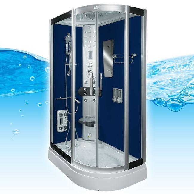 AcquaVapore DTP8060-7200R Dusche Duschtempel Komplett Duschkabine 80x120 – Bild 2