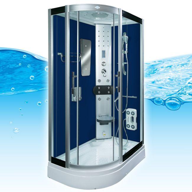 AcquaVapore DTP8060-7202L Dusche Dampfdusche Duschtempel Duschkabine 120x80 – Bild 1