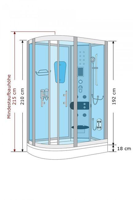 AcquaVapore DTP8060-7210L Dusche Duschtempel Komplett Duschkabine 120x80 – Bild 4