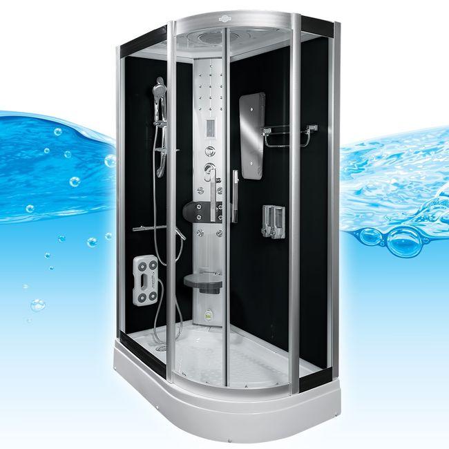 AcquaVapore DTP8060-7300R Dusche Duschtempel Komplett Duschkabine 80x120 – Bild 2