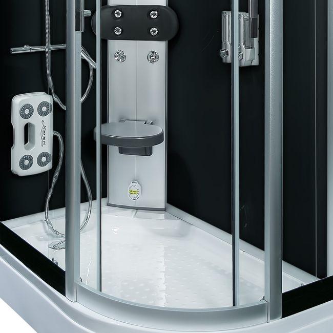 AcquaVapore DTP8060-7300R Dusche Duschtempel Komplett Duschkabine 80x120 – Bild 12