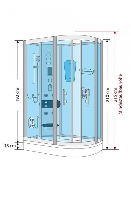 AcquaVapore DTP8060-7300R Dusche Duschtempel Komplett Duschkabine 80x120 – Bild 5